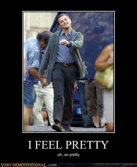 happy,hilarious,Inception,leonardo dicaprio,pretty,walking