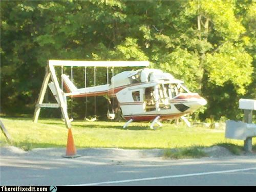 classic helicopter Kludge playground swing
