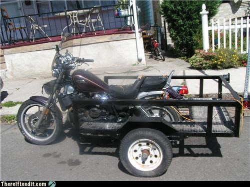 Kludge,motorcycle,not a truck,trailers
