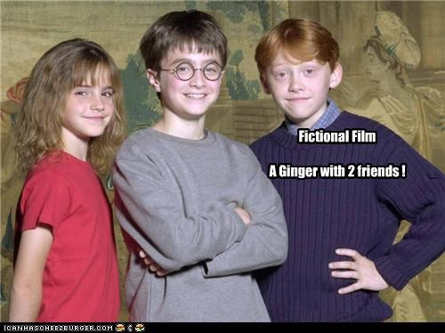 Fictional Film A Ginger with 2 friends !