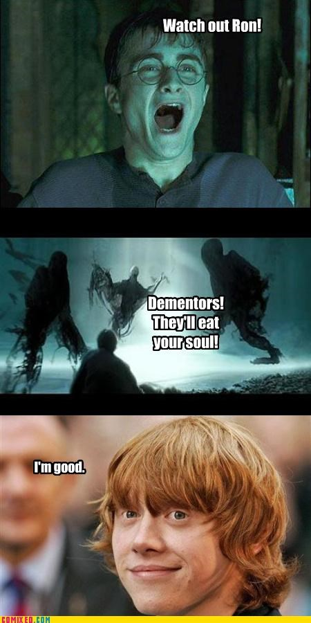 dementors,From the Movies,gingers,Harry Potter,monster,no soul,ron
