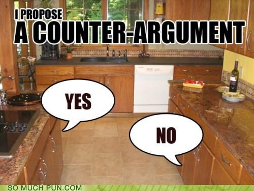 anthropomorphism,arguments,kitchen,puns,vocabulary