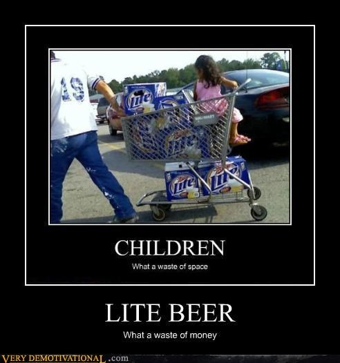 beer children drinking fail miller lite Parenting Fail Sad shopping wal mart waste