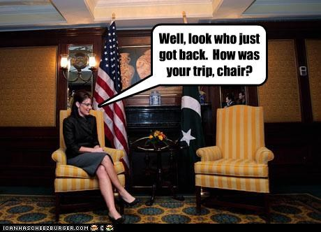 chair empty chair idiots Sarah Palin stupid vacation - 3944348928