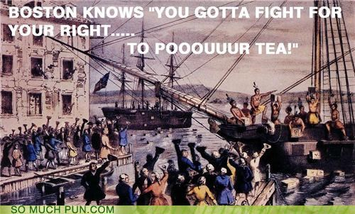 america,beastie boys,boston tea party,history,Party,puns,rap,revolutionary,usa1