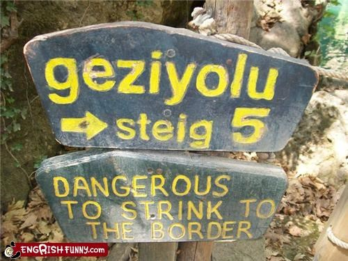 border danger notice sign - 3944726272