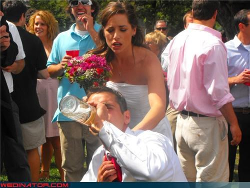 bros icing grooms concerned bride Crazy Brides crazy groom eww funny wedding photos groom got iced gross iced wedding picture Smirnoff Ice wedding picture surprise wtf - 3944776448