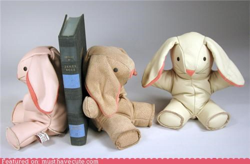 bunny bookends kawaii bookends Office Plush - 3945449984