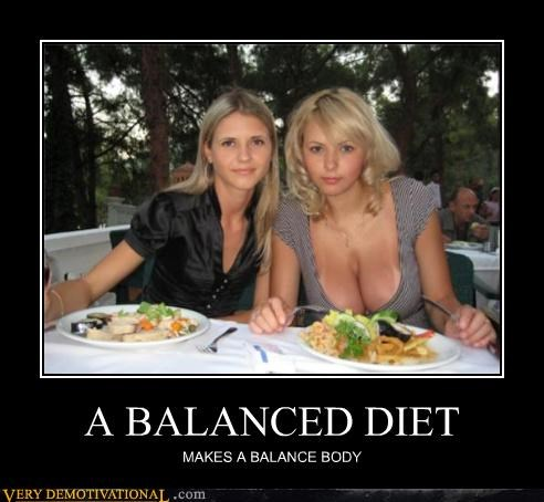 A BALANCED DIET MAKES A BALANCE BODY