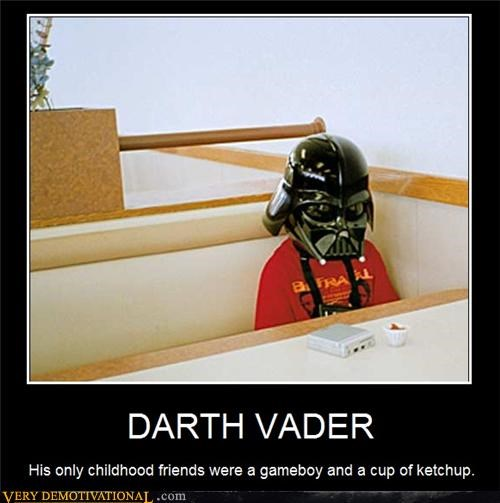 Awkward darth vader dork ketchup loser Sad star wars true story - 3946258176