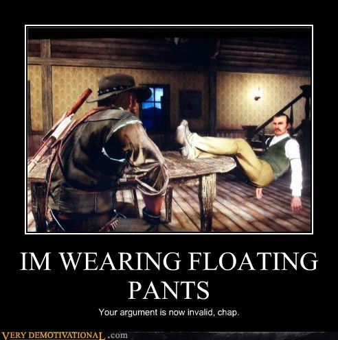 awesome fashion pants red dead redemption Terrifying Videogames your argument is invalid - 3946521600