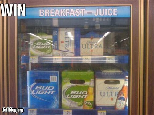 beer breakfast convenience store failboat idea win