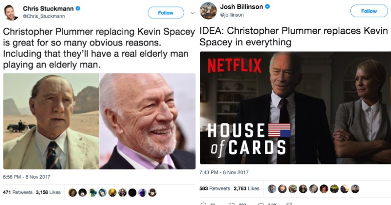 Twitter is Replacing Kevin Spacey in Everything After He Was Replaced In His Upcoming Film
