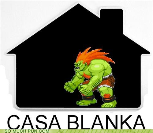 blanka,casa,casablanca,character,double meaning,homophones,literalism,Movie,quote,Street fighter