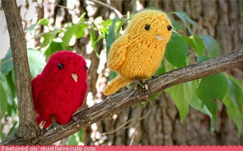 art birds craft cute-kawaii-stuff-free-little-birds-pattern figurine free kit Knitted knitting pattern Teeny - 3948428288
