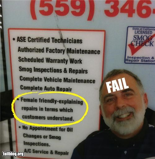 cars failboat females g rated sexist signs transportation