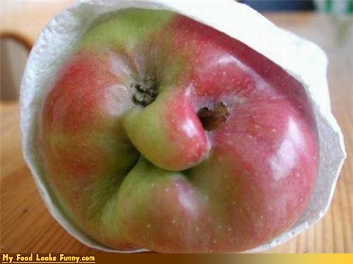 apple,Deformed,face,fruits-veggies,granny,granny smith,napkin
