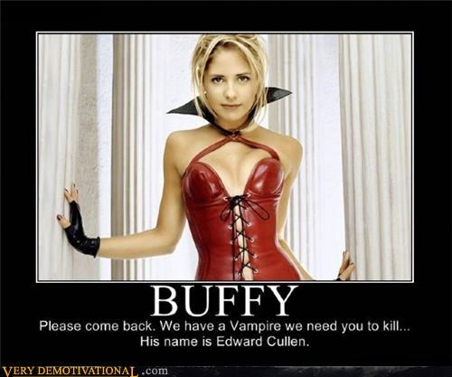 babe Buffy edward cullen Pure Awesome Sarah Michelle Gellar twilight vampires - 3950124032