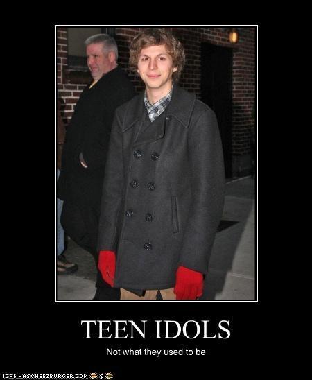 dorky,gross,idols,michael cera,teen idols