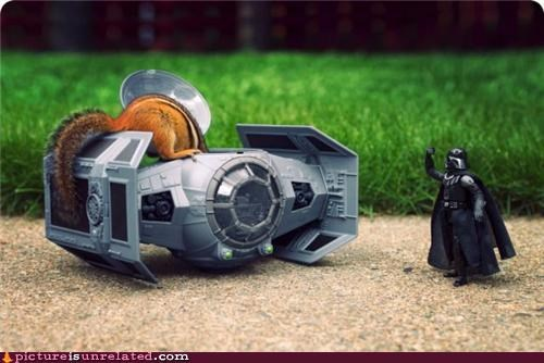 chipmonk,darth vader,star wars,tie fighter,wtf