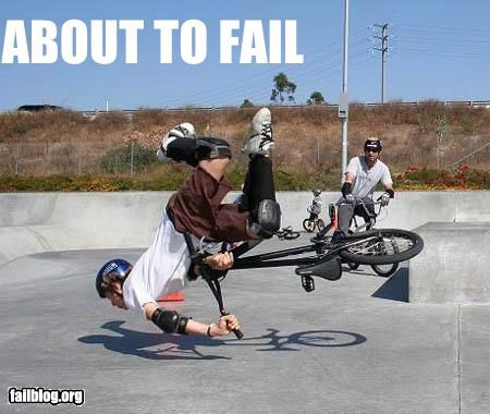 About to Fail bikes faceplant failboat ouch - 3951163136