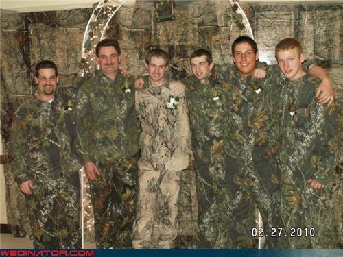 camo camo groom camo groomsmen camouflage crazy groom fashion is my passion funny wedding photos Groomsmen hunting groom redneck terrible groom outfit trashy wedding party Wedding Themes white trash wedding wtf - 3952193536
