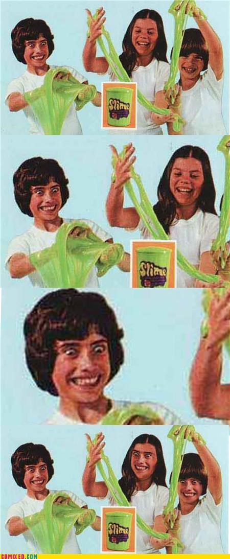 creepy,face replace,face swap,kids,old advertisement,slime,the internets