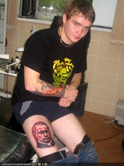 awesome funny tattoo Vladimir Putin - 3952932096