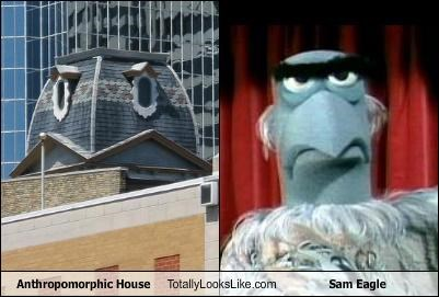 anthropomorphic house sam eagle - 3953622784