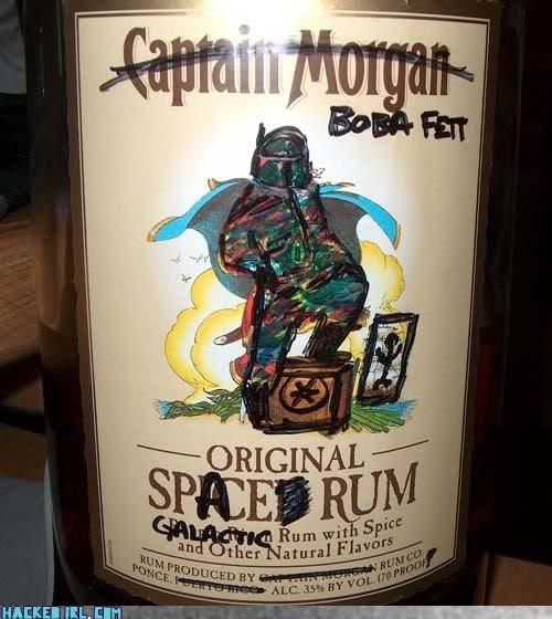 boba fett captain morgan Rum star wars - 3955211520