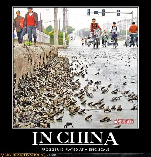 China,frogger,frogs,impossible,old school,video games,wtf