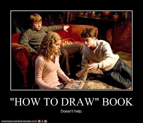 """HOW TO DRAW"" BOOK Doesn't help."