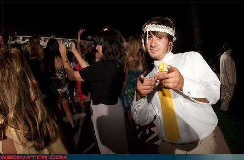 douchey wedding guest eww fashion is my passion frat boys funny garter picture funny wedding photos Garter justin bieber Justin Bieber garter Justin Bieber with a garter on his head surprise wtf
