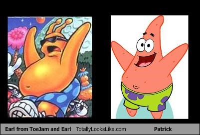 cartoons patrick star SpongeBob SquarePants toejam and earl TV video games