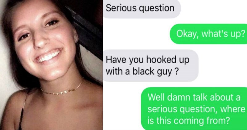 racist won't date a girl who slept with black guys