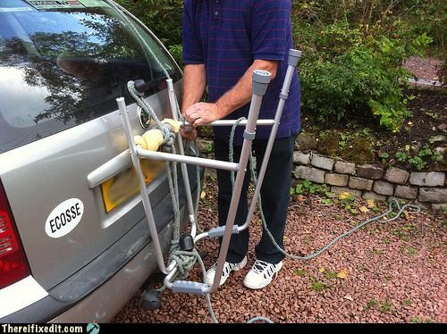bike rack,car,Kludge,recycling-is-good-right,walker