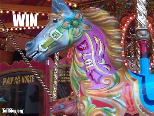 Horse name WIN Carousel horse with a win name!