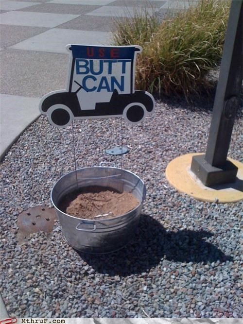 butt cigarettes corny dumb signage smoking trash - 3957018624