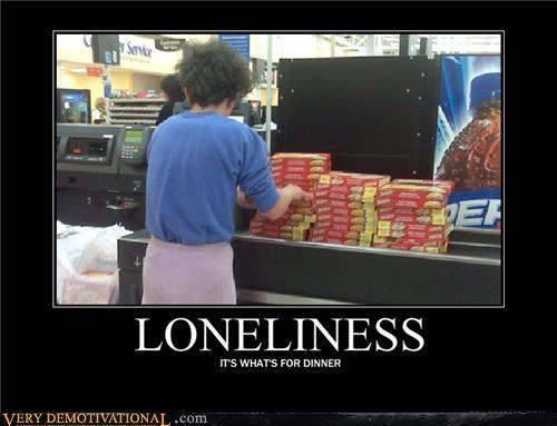 food isolation loneliness modern living planning Sad - 3957633024