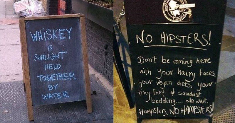 Funny and clever signs outside of pubs and shops that didn't fail to make us laugh.