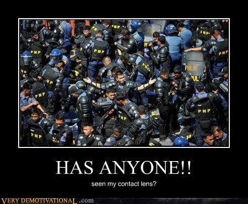 contacts cops gear idiots missing riot Sad - 3958142208