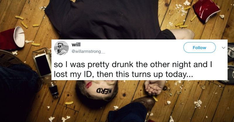 Guy gets drunk and loses ID, but then gets pranked by a clever travel agency.