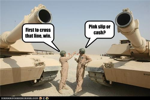First to cross that line, win. Pink slip or cash?