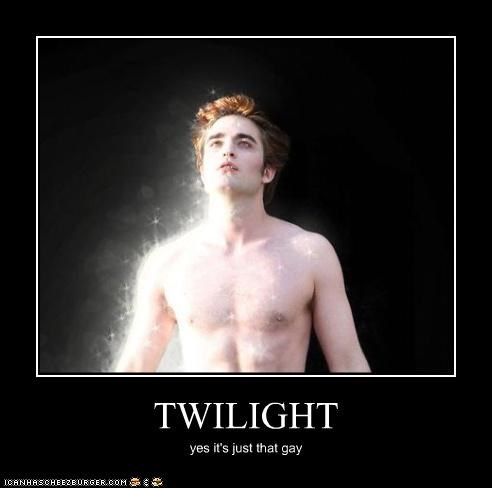 TWILIGHT yes it's just that gay
