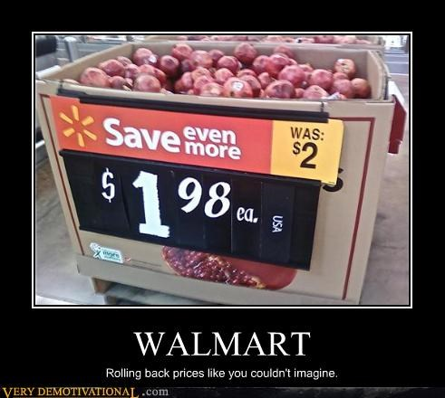 apples capitalism deals groceries idiots prices Sad stores the economy Walmart - 3959497728