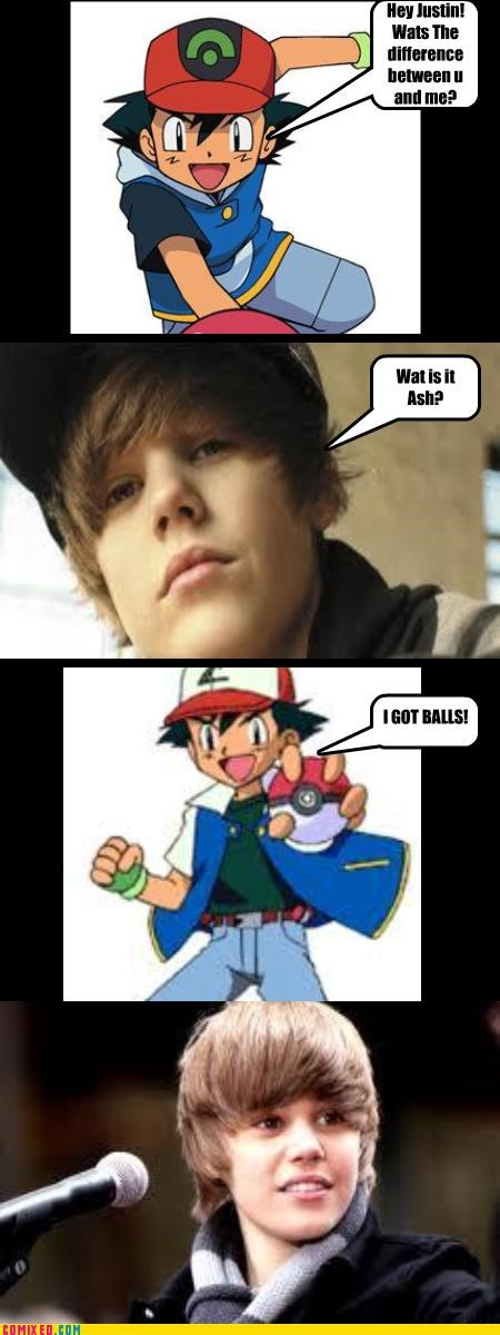ash balls cartoons celebutard children justin bieber Pokémon - 3960080640