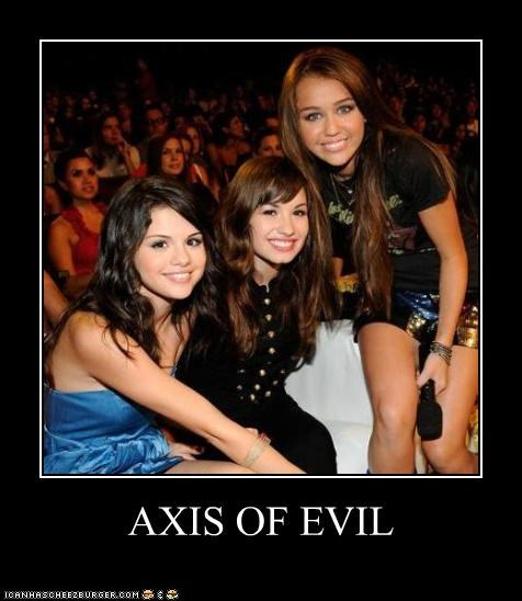 celebrity-pictures-miley-demi-selena-axis-of-evil lolz - 3960301568