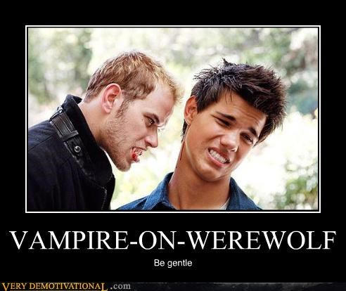 VAMPIRE-ON-WEREWOLF Be gentle