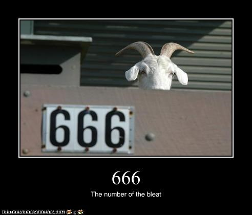 666 The number of the bleat
