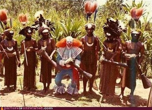 clown,creepy,tribal,wtf